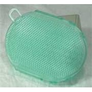 Imported Horse Supply Gel Scrubbies- Green 6In 1