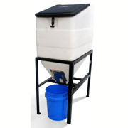 High Country Plastics Feed Bin w/ Stand - 270 lbs Cap.