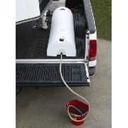 High Country Plastics 48 Gal. Half Moon Lay Down Water Caddy